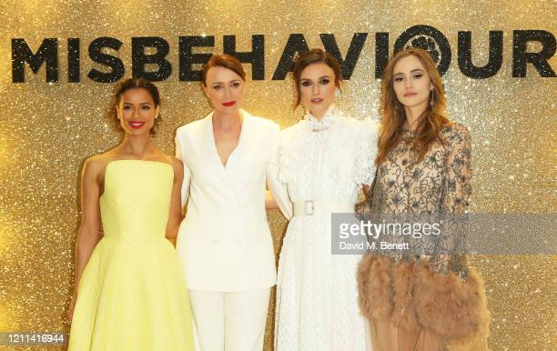 Gugu MbathaRaw Keeley Hawes Keira Knightley and Suki Waterhouse attend the World Premiere of Misbehaviour at The Ham Yard Hotel on March 09 2020 in...
