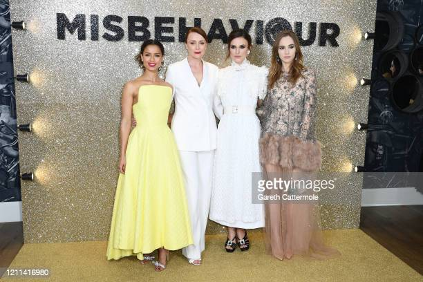 Gugu MbathaRaw Keeley Hawes Keira Knightley and Suki Waterhouse attend the Misbehaviour World Premiere at The Ham Yard Hotel on March 09 2020 in...