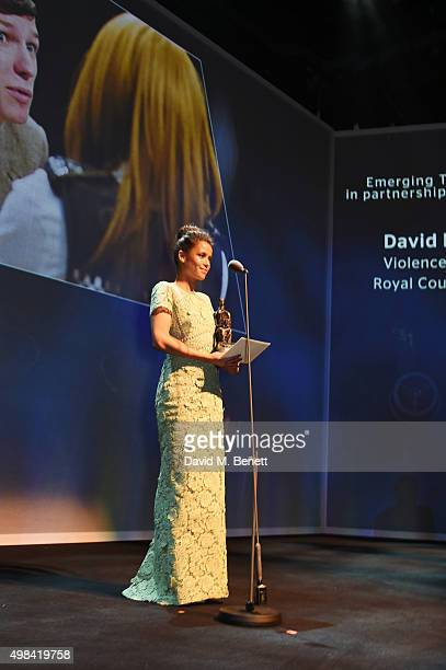 Gugu MbathaRaw presents the award for Emerging Talent Award in partnership with Burberry at The London Evening Standard Theatre Awards in partnership...