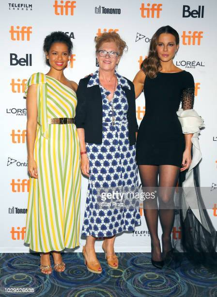 Gugu MbathaRawguest and Kate Beckinsale attend the 'Farming' premiere during 2018 Toronto International Film Festival at Scotiabank Theatre on...