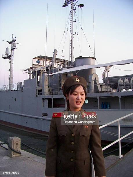 CONTENT] Guide at the USS Pueblo on display on the Taedong River in Pyongyang North Korea