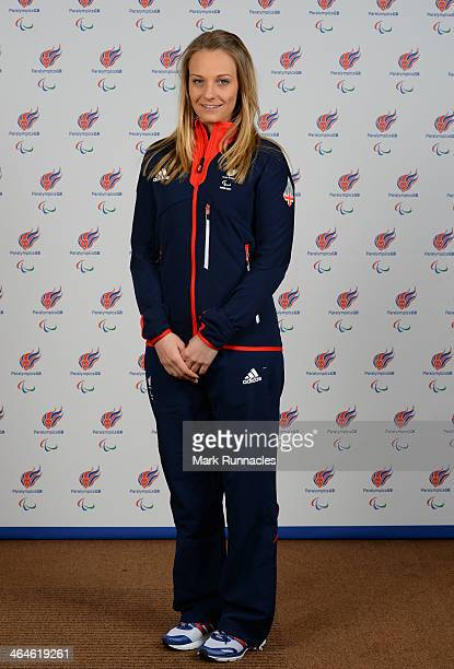 Guide Charlotte Evans selected to represent ParalympicsGB for Sochi 2014 Paralympic Games at the Radisson Blue hotel on January 23 2014 in Glasgow...