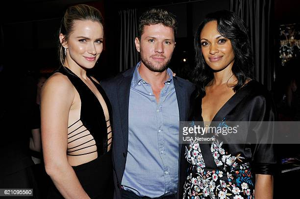 Guide Cover Party for USA Network's SHOOTER Pictured Shantel VanSanten Ryan Phillippe Cynthia AddaiRobbinson