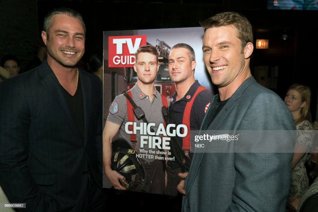 FIRE -- 'TV Guide Cover Party' -- Pictured: (l-r) Taylor Kinney, Jesse Spencer --