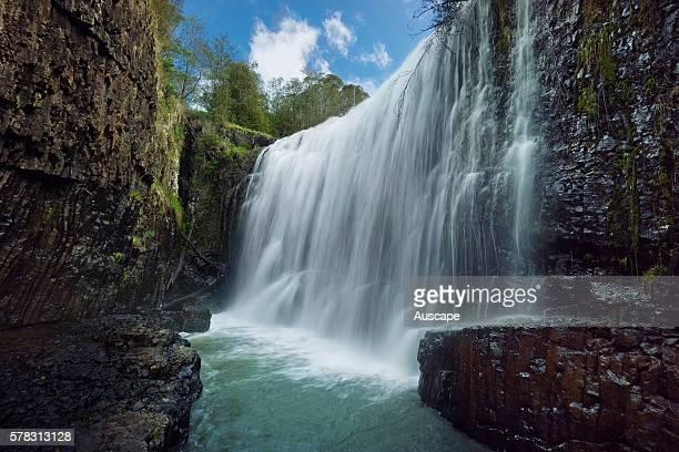Guide Falls falling between 22 and 38 m West Ridgley near Burnie northwest Tasmania Australia