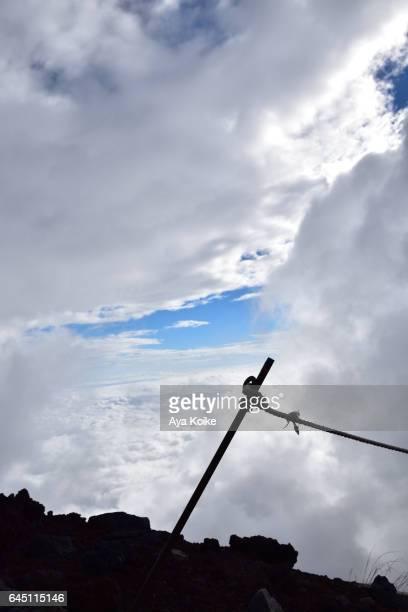 Guide rope view in Mt.Fuji