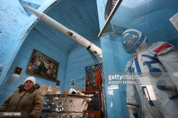 A guide waits for visitors at the space museum located in Saint Paraskeva church in PereyaslavKhemlnytsky a small town some 80 kilometers southeast...