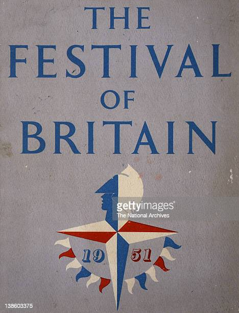 Guidebook front cover for the Festival of Britain with logo designed by Abram Games 1951