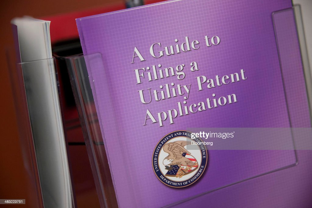 A Guidebook To Filing A Utility Patent Application Sits On Display At The  U.S. Patent And
