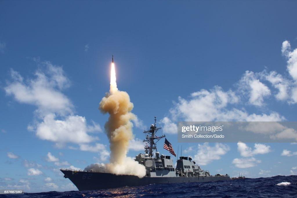 USS Fitzgerald Fires Missile : News Photo