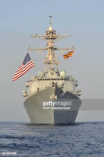 Guidedmissile destroyer USS Jason Dunham at sea 2012 Image courtesy Deven B King/US Navy