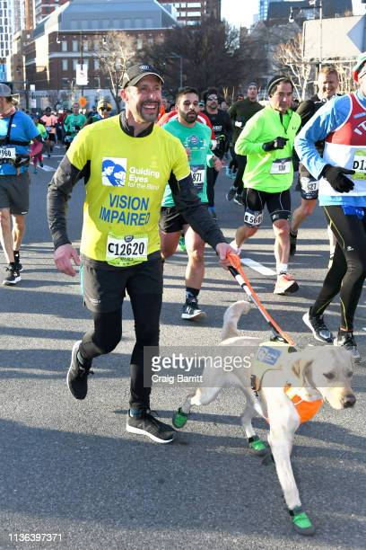 Guiding Eyes for the Blind President and CEO Thomas Panek runs the first ever 2019 United Airlines NYC Half Led Completely by Guide Dogs with Gus on...