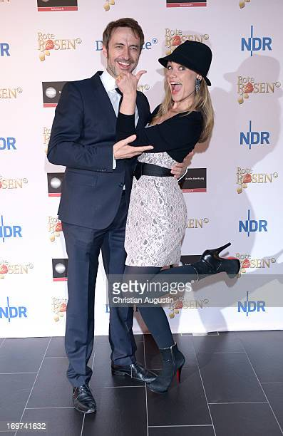 Guido Broscheit and Sarah Maria Besgen attend 1500th episode celebration event at Palais Hotel Bergstroem on May 31, 2013 in Luneburg, Germany.