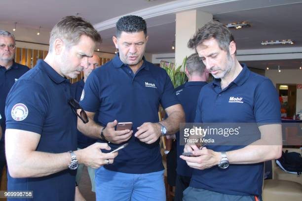 Guido Broscheit Luan Krasniqi and Andreas Brucker attend the '14 Drachenboot Cup' charity event on June 8 2018 in Hamburg Germany