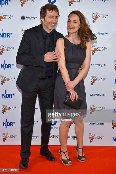 Guido Broscheit und Sarah Maria Besgen attend the celebration of 2000 episodes of Rote Rosen at Ritterakademie on April 24 2015 in Lueneburg Germany
