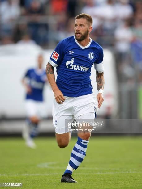 Guido Burgstaller of Schalke 04 during the Club Friendly match between Schalke 04 v Schwarz Weiss Essen at the Uhlenkrugstadion on July 21 2018 in...