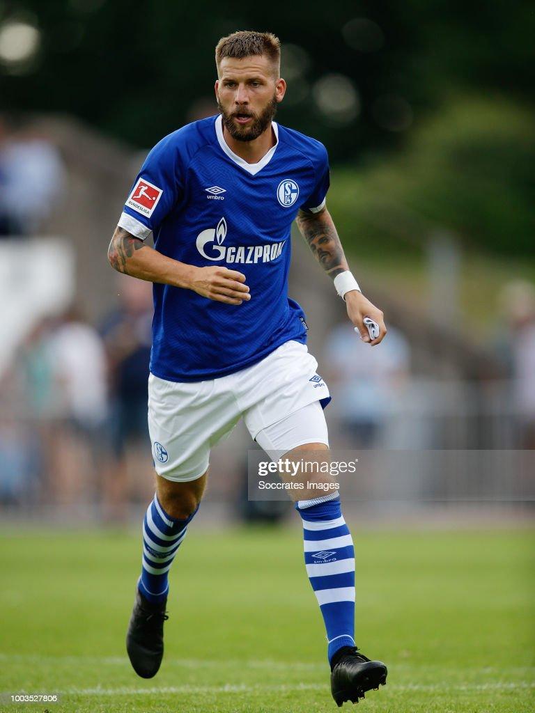Guido Burgstaller of Schalke 04 during the Club Friendly match ...