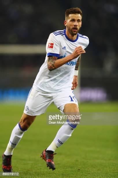 Guido Burgstaller of Schalke 04 in action during the Bundesliga match between Borussia Moenchengladbach and FC Schalke 04 at BorussiaPark on December...
