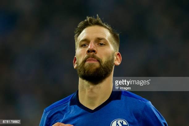 Guido Burgstaller of Schalke looks on during the Bundesliga match between FC Schalke 04 and Hamburger SV at VeltinsArena on November 19 2017 in...