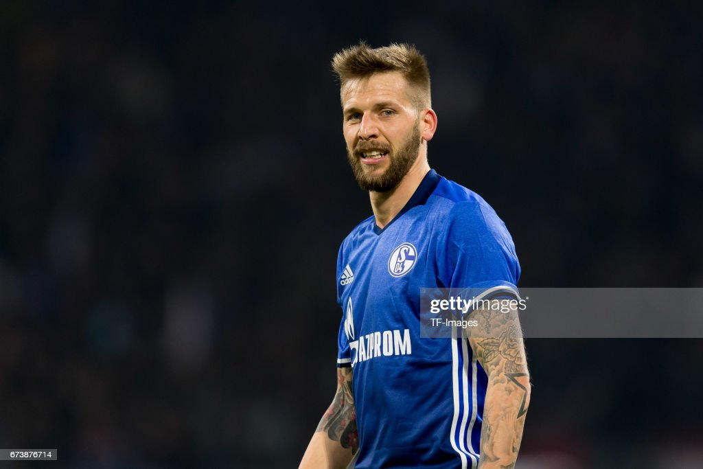 Guido Burgstaller of Schalke , looks on during the UEFA Europa League Quarter Final first leg match between Ajax Amsterdam and FC Schalke 04 at Amsterdam Arena on April 13, 2017 in Amsterdam, Netherlands.