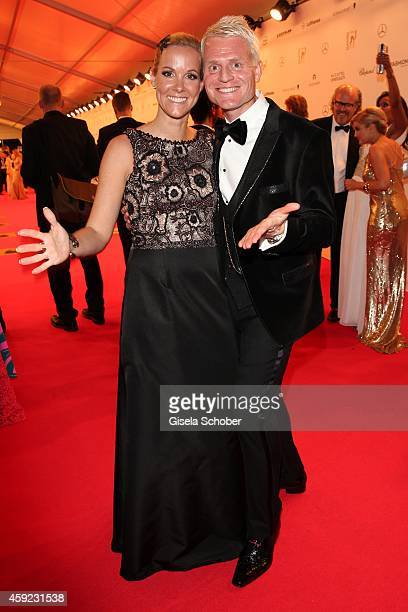 Guido Cantz and his wife Kerstin arrive at the Bambi Awards 2014 on November 13 2014 in Berlin Germany
