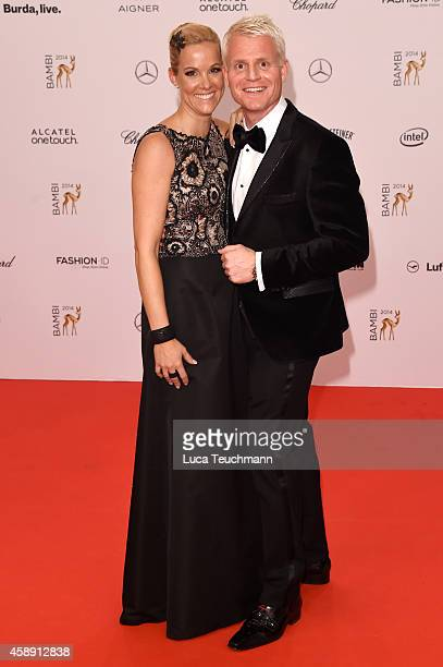 Guido Cantz and his wife Kerstin attend Kryolan at the Bambi Awards 2014 on November 13 2014 in Berlin Germany