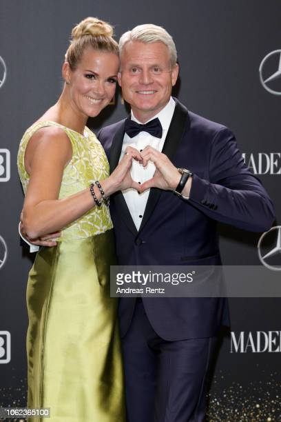 Guido Cantz and his wife Kerstin Cantz attend the 70th Bambi Awards at Stage Theater on November 16 2018 in Berlin Germany