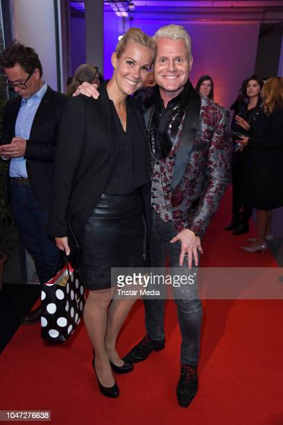 Guido Cantz and his wife Kerstin Ricker attend the 22nd Annual German Comedy Awards at Studio in Koen Muelheim on October 7 2018 in Cologne Germany