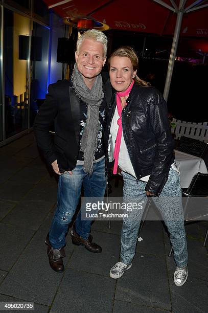 Guido Cantz and Mirja Boes performs 'Das Sommerfest am See' TVShow on May 31 2014 in Erfurt Germany