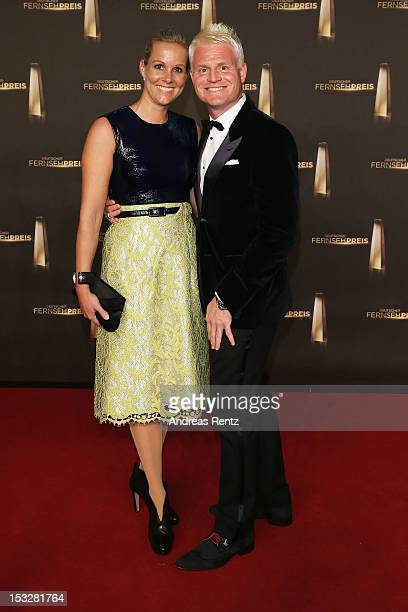 Guido Cantz and Vanessa Cantz arrive for the German TV Award 2012 at Coloneum on October 2 2012 in Cologne Germany