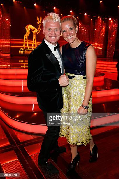 Guido Cantz and Vanessa Cantz attend the 'BAMBI Awards 2012' at the Stadthalle Duesseldorf on November 22 2012 in Duesseldorf Germany