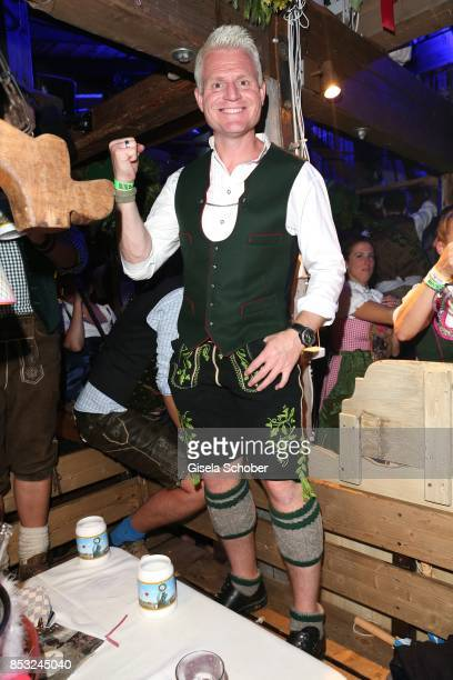 Guido Cantz during the Oktoberfest at Kaefer tent Theresienwiese on September 24 2017 in Munich Germany