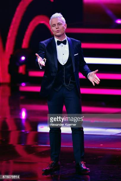 Guido Cantz is seen on stage during the Bambi Awards 2017 show at Stage Theater on November 16 2017 in Berlin Germany