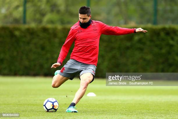 Guido Carrillo during a Southampton FC Training session at Staplewood Complex on April 30 2018 in Southampton England