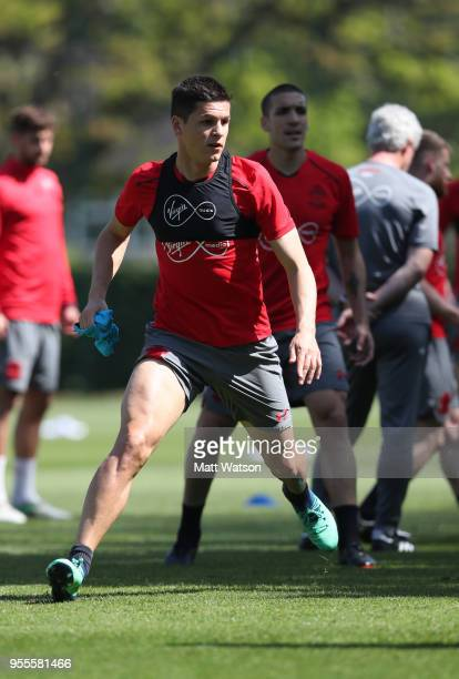 Guido Carrillo during a Southampton FC training session at the Staplewood Campus on May 7 2018 in Southampton England
