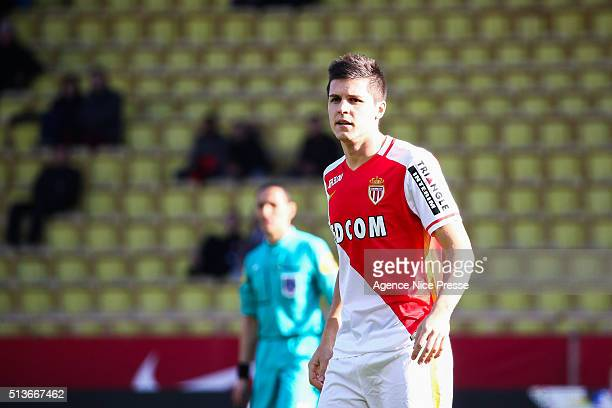 Guido Carrillo of AS Monaco during the French Ligue 1 between AS Monaco and Toulouse FC at Stade Louis II on January 24 2016 in Monaco Monaco