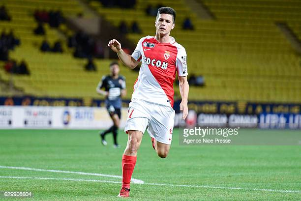 Guido Carrillo of Monaco during the French League Cup match between Monaco and Rennes at Stade Louis II on December 14 2016 in Monaco Monaco