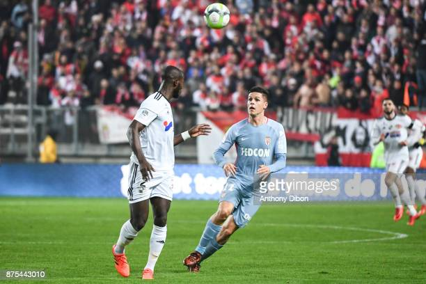 Guido Carrillo of Monaco during the Ligue 1 match between Amiens SC and AS Monaco at Stade de la Licorne on November 17 2017 in Amiens