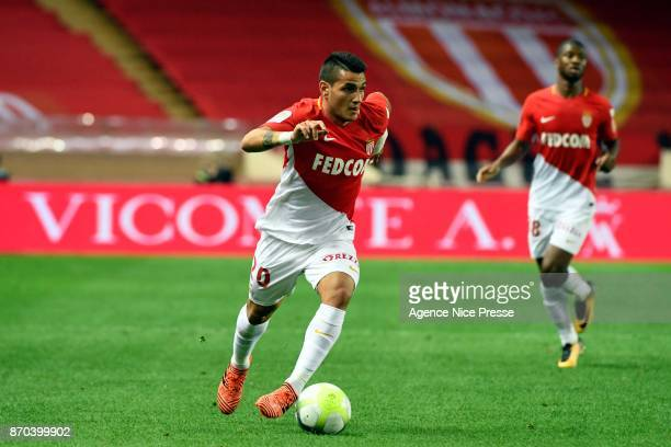 Guido Carrillo of Monaco during the Ligue 1 match between AS Monaco and EA Guingamp at Stade Louis II on November 4 2017 in Monaco