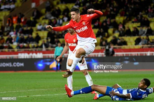 Guido Carrillo of Monaco during the Ligue 1 match between AS Monaco and Troyes Estac at Stade Louis II on December 9 2017 in Monaco