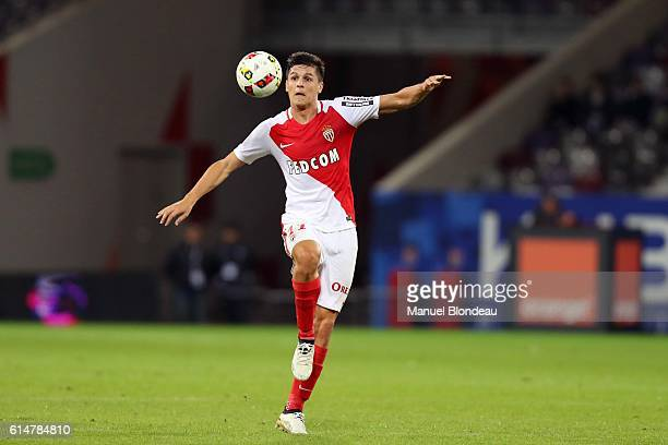 Guido Carrillo of Monaco during the Ligue 1 match between Toulouse FC and AS Monaco at Stadium Municipal on October 14 2016 in Toulouse France