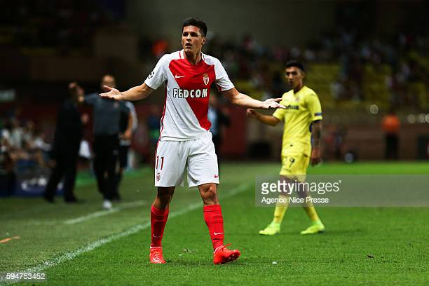Guido Carrillo of Monaco during the UEFA Champions League game between As Monaco and Villarreal at Stade Louis II on August 23 2016 in Monaco Monaco
