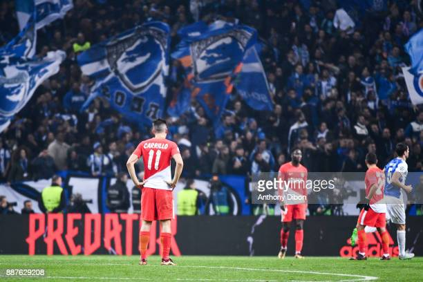 Guido Carrillo of Monaco looks dejected during the Uefa Champions League match between Fc Porto and As Monaco at Estadio do Dragao on December 6 2017...