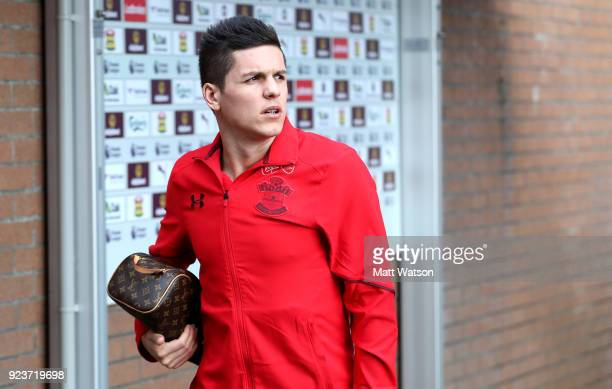 Guido Carrillo of Southampton ahead of the Premier League match between Burnley and Southampton at Turf Moor on February 24 2018 in Burnley England