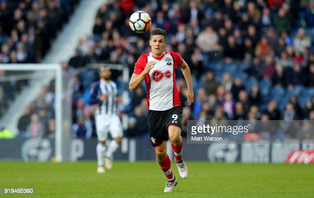 Guido Carrillo of Southampton during the Emirates FA Cup fifth round match between West Bromwich Albion and Southampton at The Hawthorns on February...