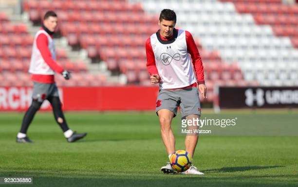 Guido Carrillo of Southampton FC during a training session at St Mary's Stadium on February 22 2018 in Southampton England