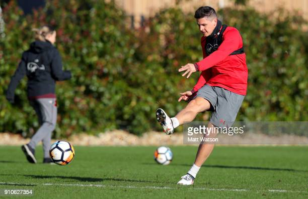 Guido Carrillo of Southampton FC during a training session at the Staplewood Campus on January 26 2018 in Southampton England