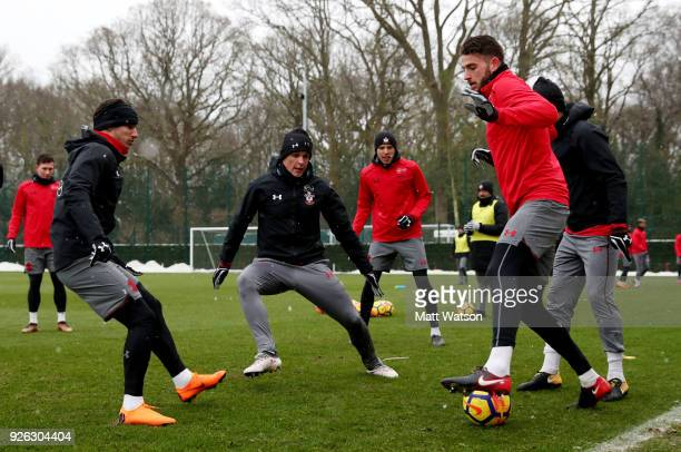 Guido Carrillo of Southampton FC during a training session at the Staplewood Campus on March 2 2018 in Southampton England
