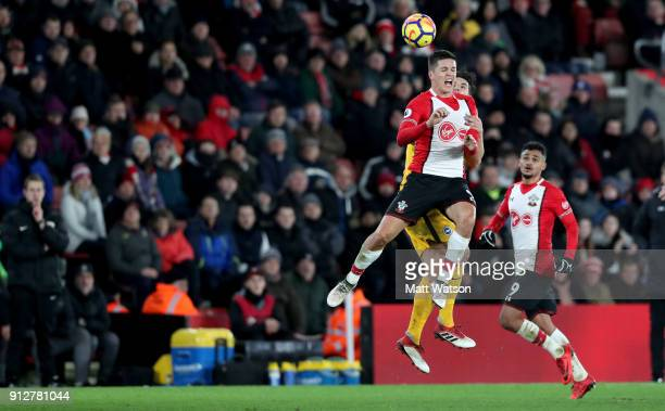 Guido Carrillo of Southampton FC during the Premier League match between Southampton and Brighton and Hove Albion at St Mary's Stadium on January 31...