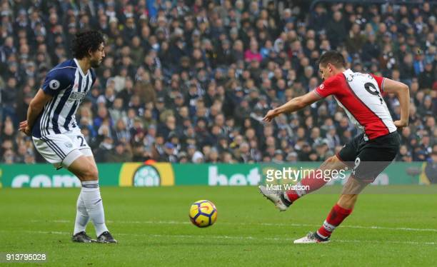 Guido Carrillo of Southampton FC during the Premier League match between West Bromwich Albion and Southampton at The Hawthorns on February 3 2018 in...